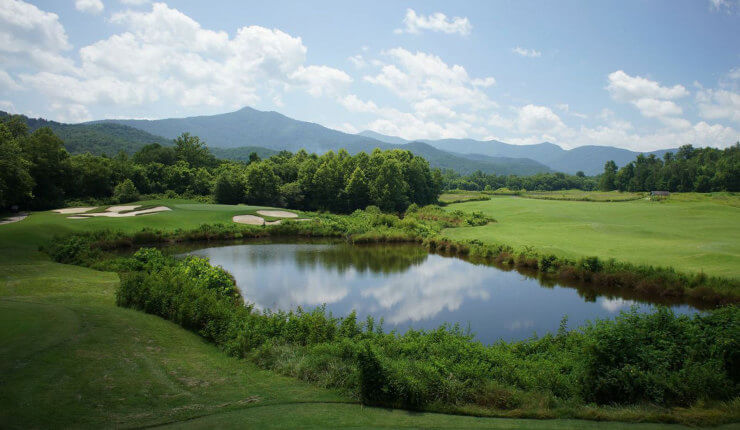 brasstown valley golf arial course water
