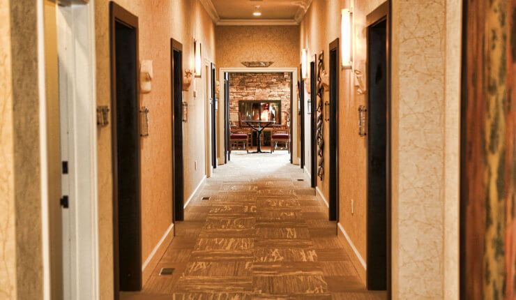 brasstown valley spa hallway