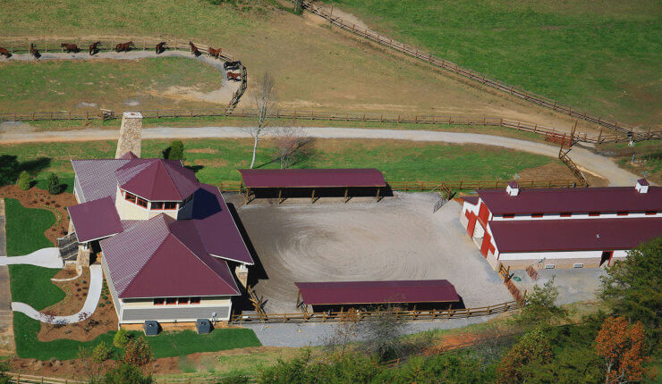 brasstown valley stables arial