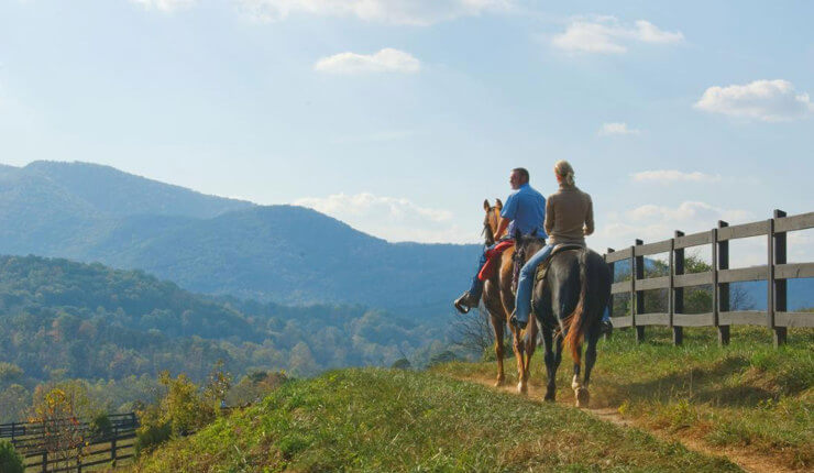 brasstown valley stables horseback riding mountains