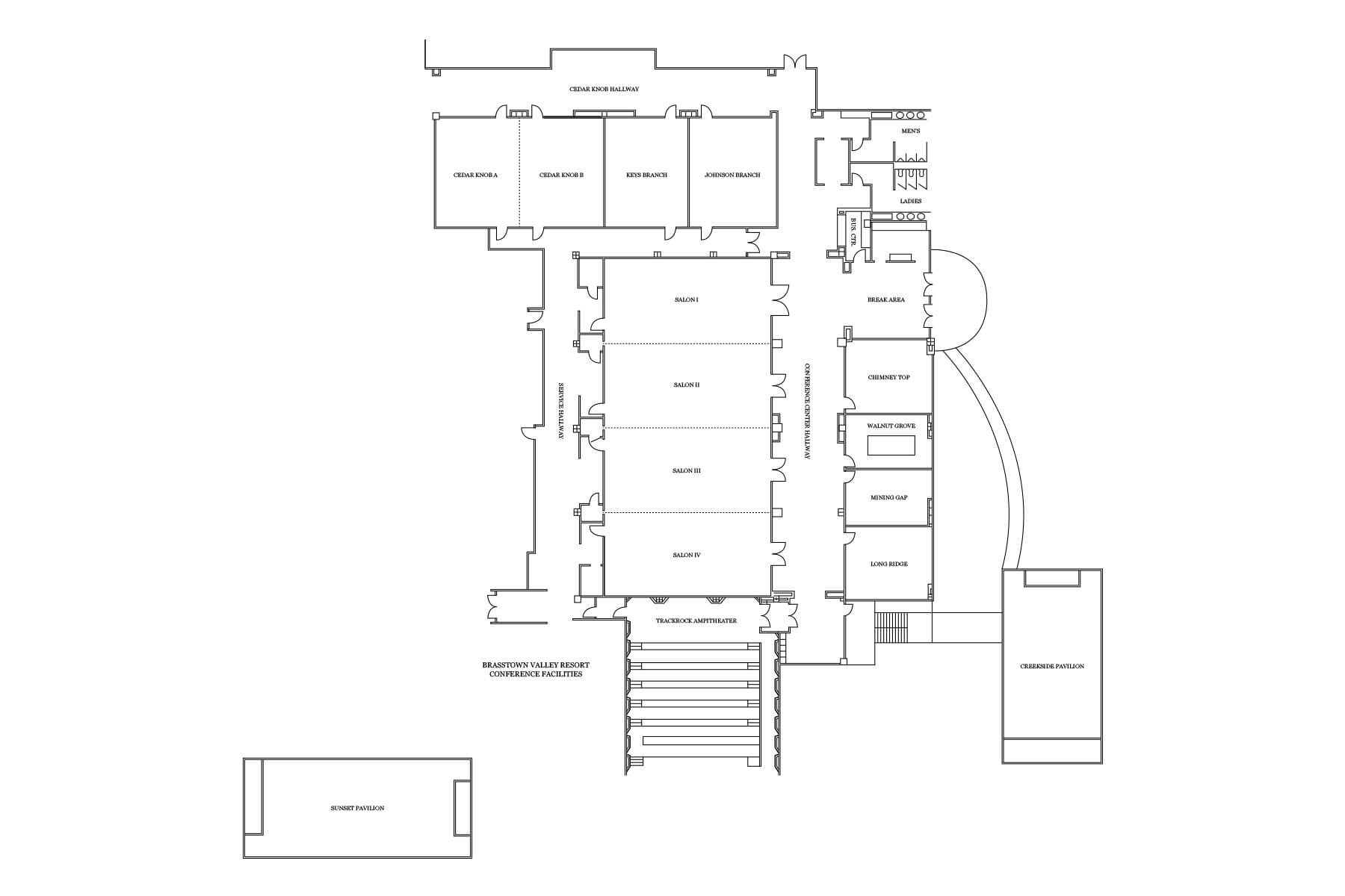 Brasstown Valley Facilities Floor Plan 1