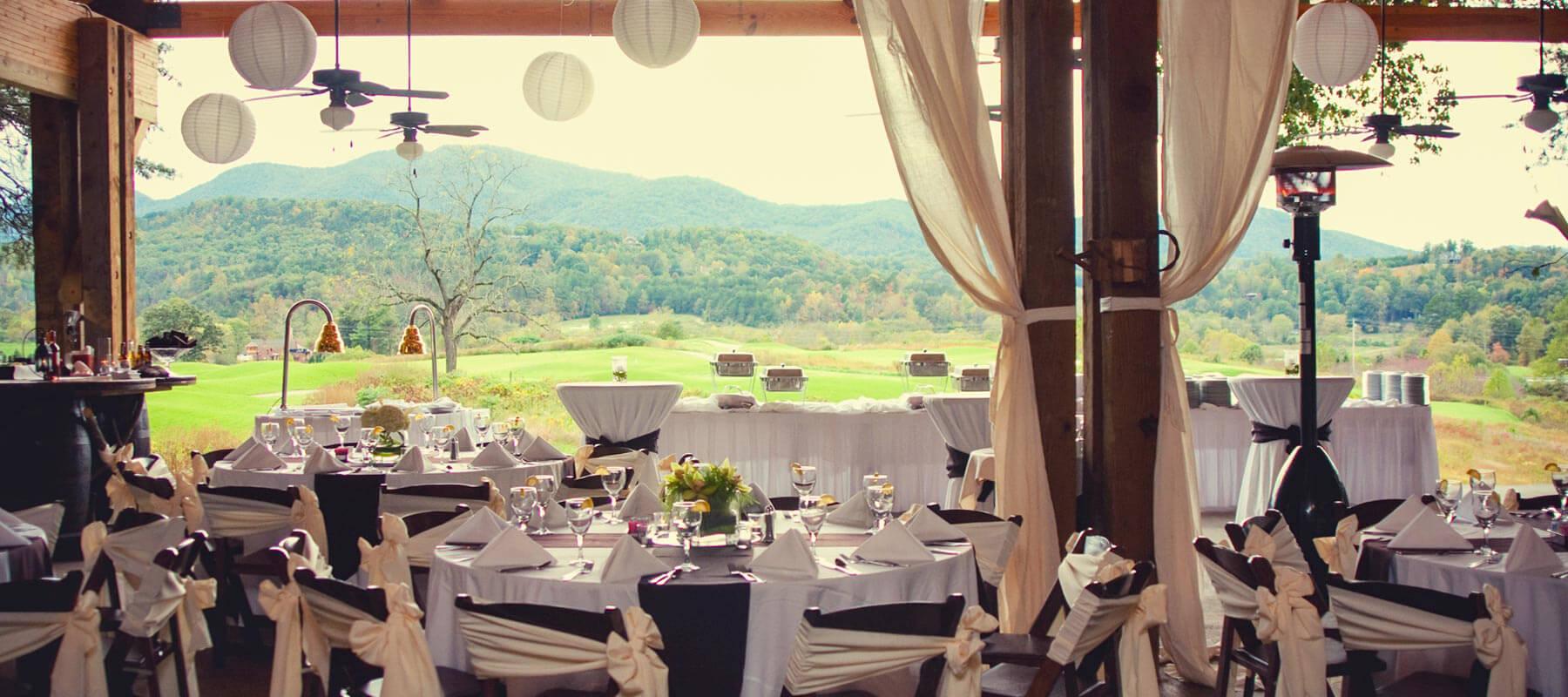 Brtown Valley Blue Ridge Mountain Wedding Sunset Pavilion