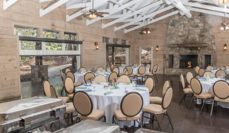 Creekside Pavilion banquet setup