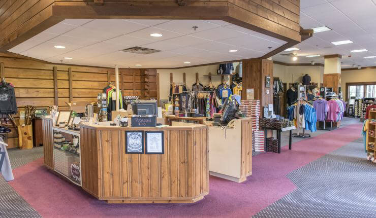 Pro Shop old counter