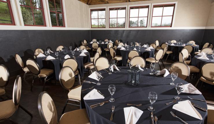 Tack Room banquet setup 5