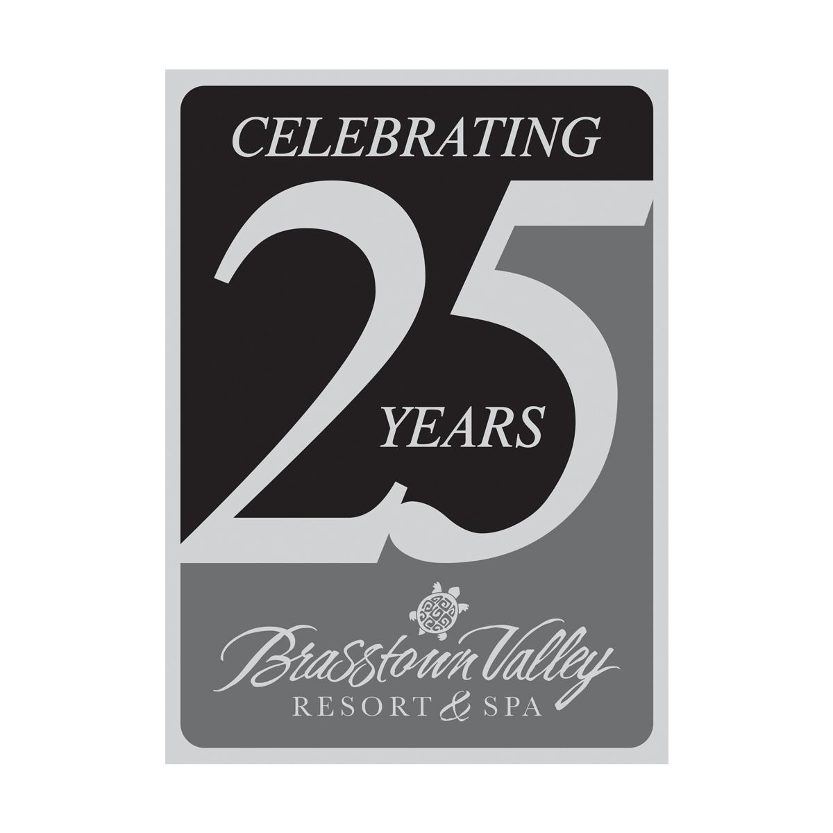 Gray blk Brasstowns th Anniversary Logo