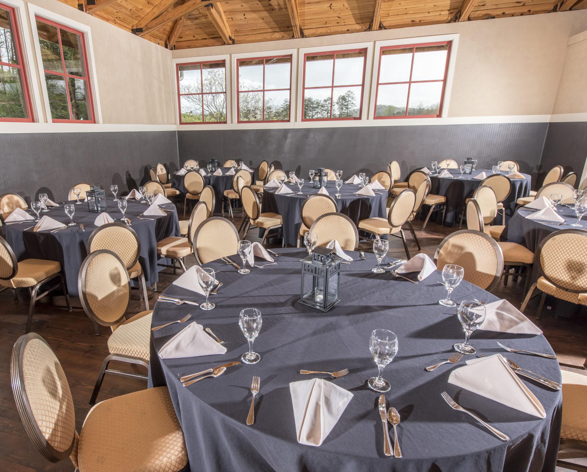 Tack Room banquet setup